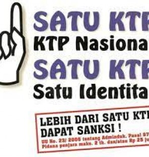1 satu KTP KTP Nasional